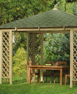 Rimini Holzpavillon mit Dachschindeln