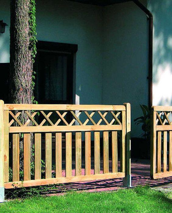 Drewniany płot, ogrodzenie ogrodowe