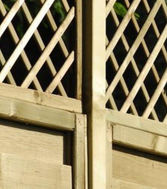 Pfosten 1,5 x 4,5 x 180 cm, Distanzeinsatz für Zäune