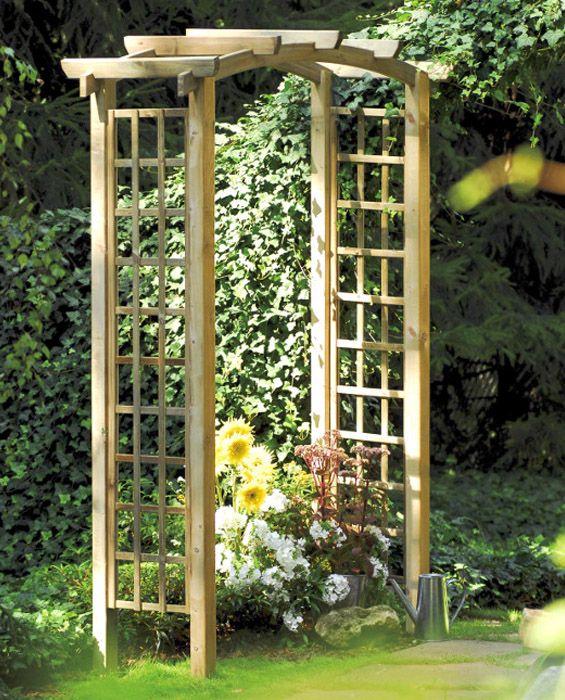 Drewniana pergola ogroadowa, dekoracja ogrodu