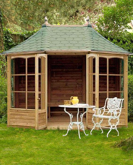 Breite Harrogate Gartenlaube mit Dachschindeln