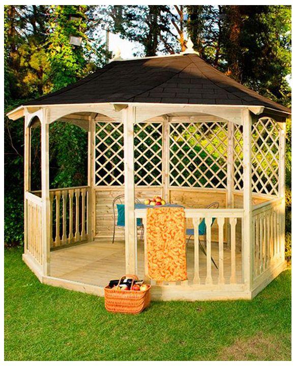 Breite Winchester Gartenlaube mit Dachschindeln